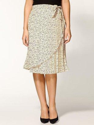 Tulle Printed Knee Length Skirt