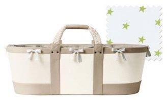 Sausalito Moses Basket Flax/Sprout Star Sheet