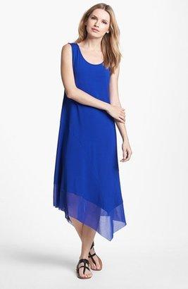 Eileen Fisher Scoop Neck Asymmetrical Dress