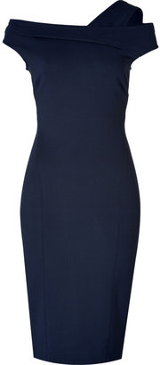 Donna Karan One Shoulder Dress in Dark Navy