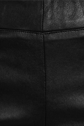The Row Comet paneled leather flared leggings