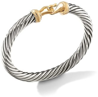 David Yurman Cable Buckle Bracelet with 14K Yellow Gold