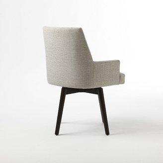 west elm Angle Leg Office Chair - Crosshatch Print