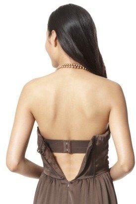 TEVOLIOWomen's Satin Strapless Maxi Dress - Brown - 4