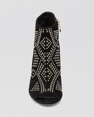 Vince Camuto Open Toe Booties - Kanster Studded