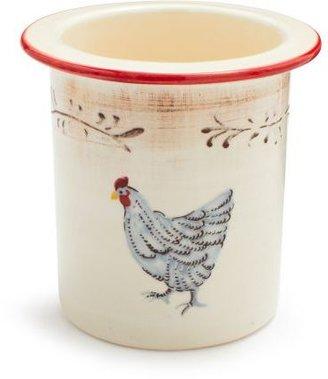 Sur La Table French Hen Utensil Crock