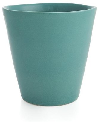 Crate & Barrel Festive Small Seagreen Planter