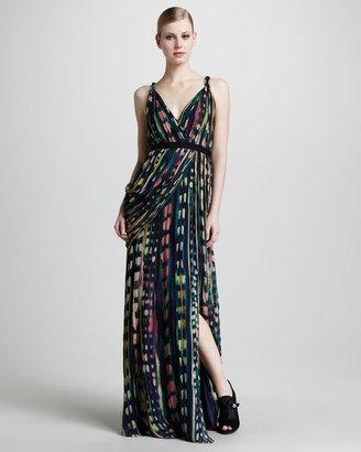 Vera Wang Watercolor-Print Gown