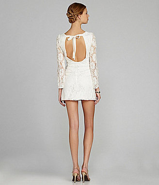 Miss Me by Open-Back Lace Dress