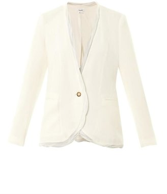 Helmut Lang Relic chiffon-trim jacket