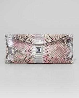 Kara Ross Prunella Metallic Python Clutch Bag