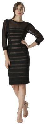 JS Collections Chiffon Tonal Stripe Dress