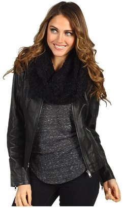 Steve Madden Solid Loopy Knit Snood (Black) - Accessories