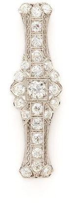 Art Deco Platinum & Diamond Linear Brooch