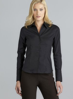 Calvin Klein Black Non Iron Easy Care Button Down Top
