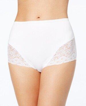 Bali Women's Firm Tummy-Control Lace Trim Microfiber Brief Underwear 2 Pack X054