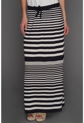 Vince Camuto TWO by Nautical Stripe Maxi Skirt (New Navy) - Apparel