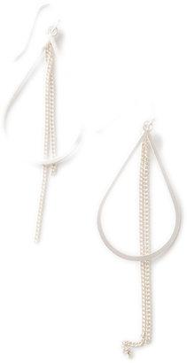 Lori's Shoes Teardrop and Chain Fringe Earrings