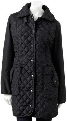Weathercast quilted walker coat