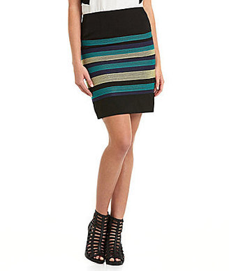 Miss Me by Striped Pencil Skirt