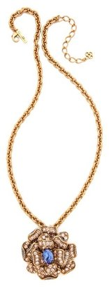 Oscar de la Renta Flower Brooch Necklace