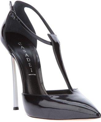 Casadei 'Softymetal' pointed toe pump