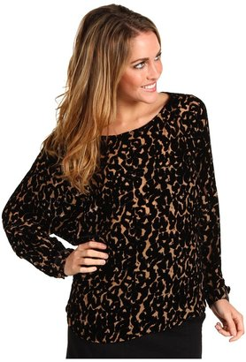 Twelfth St. By Cynthia Vincent by Cynthia Vincent Boatneck Wide Sleeve Button Up Back Top Women's Long Sleeve Pullover