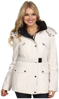 Jessica Simpson Belted Active Coat w/ Polyfill (White) - Apparel