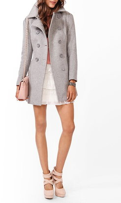 Forever 21 Contemporary Belted Double-Breasted Coat