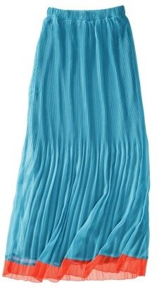 Mossimo Womens Pleated Chiffon Maxi Skirt - Assorted Colors