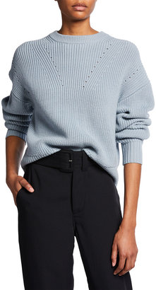 Proenza Schouler White Label Merino Wool Sweater with Back Slit