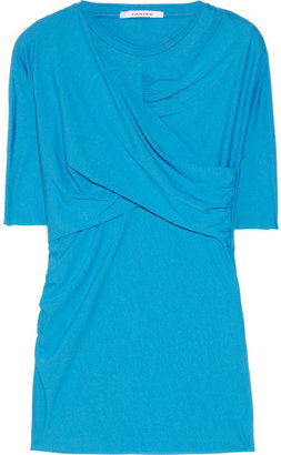 Carven Jersey wrap-effect top