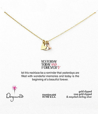 Dogeared Yesterday, Today, Forever Hearts Necklace