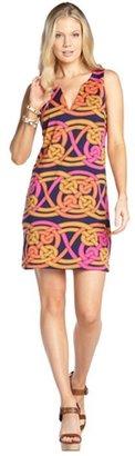 Julie Brown JB by pink isla jersey 'Voyage' v-slit shift dress