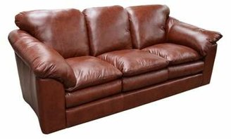 Omnia Leather Oregon Leather Sofa Omnia Leather Body Fabric: Empire Butternut, Seat Cushion Fill: Down Cushion Fill