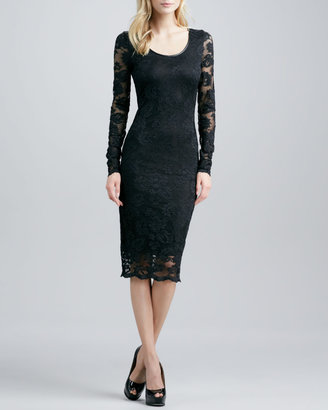 Robert Rodriguez Stretch-Lace Long-Sleeve Dress (Blogger Pick!)