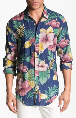 Scotch & Soda Floral Print Linen Shirt