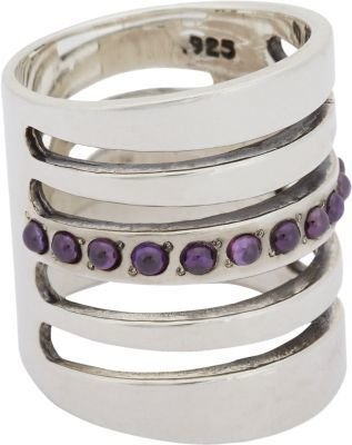 Pamela Love Amethyst and Sterling Silver Path Ring