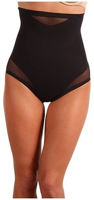 Miraclesuit Shapewear Extra Firm Sexy Sheer Shaping Hi-Waist Brief (Black) Women's Underwear