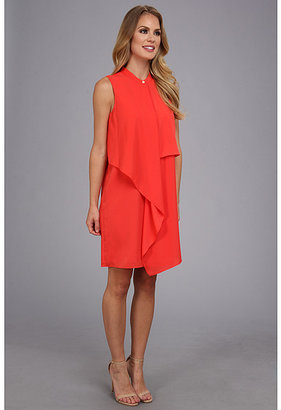 DKNY DKNYC Sleeveless Tiered Dress