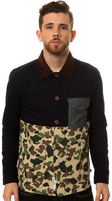 Camo Bellfield The Kano Worker Jacket in Navy and