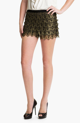 Haute Hippie 'Gilded Peacock' Lace Shorts