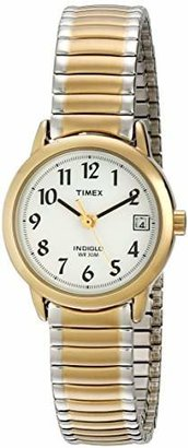 Timex Women's T2H491 Easy Reader Two-Tone Stainless Steel Expansion Band Watch $57 thestylecure.com