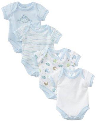 SpaSilk Baby-boys Newborn 4 Pack Dino Bodysuit