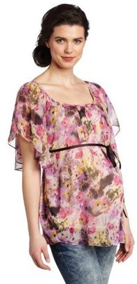 Ripe Maternity Women's Poppy Chiffon Top