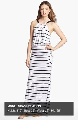 Everleigh Bow Back Halter Maxi Dress
