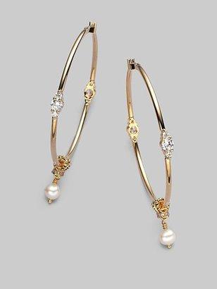 """Juicy Couture Embellished Hoop Earrings/2½"""""""
