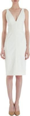 J. Mendel Fitted Plunging Neck Dress
