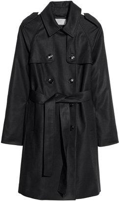 H&M Trenchcoat - Black - Ladies