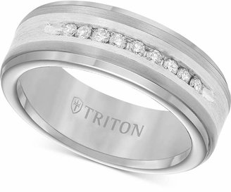 Triton Men Diamond Wedding Band in Tungsten Carbide (1/4 ct. t.w.)